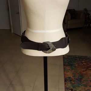 New Leather Belt with Conches. Med